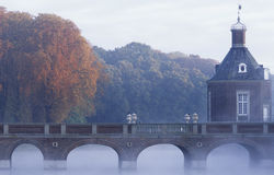 Castle Nordkirchen. On a foggy morning in autumn stock photo