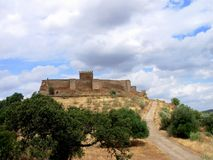 Castle of Noudar. Castle of situated Noudar in the region Alentejo, Moura, where long ago a village with the same name existed Royalty Free Stock Photos