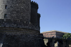 Castle Nouvo in Naples, Italy. Stock Images
