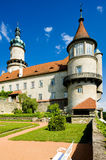 Castle of Nove Mesto nad Metuji. With garden, Czech Republic Royalty Free Stock Image
