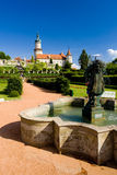 Castle of Nove Mesto nad Metuji. With garden, Czech Republic Stock Images