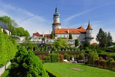 Castle Nove Mesto nad Metuji Royalty Free Stock Photography