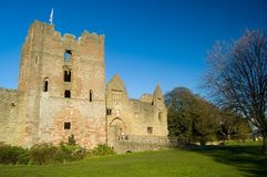 Castle in november. Ludlow castle Stock Photos
