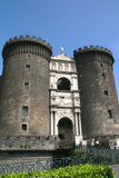 Castle Nuovo, Naples. Castle Nuovo, middle age fortress and its arc of triumph, Naples Stock Image