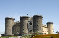 Castle Nuovo, Naples. Castle Nuovo, middle age fortress and its arc of triumph, Naples stock photos