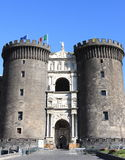 Castle Nuovo of Napoli Stock Photo
