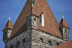 Castle of Nuremberg. Detail of the castle of Nuremberg, North-Bavaria, South-Germany Royalty Free Stock Images
