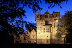 The castle. Donegal town. county Donegal. Ireland. The castle of the O`Donnell dynasty at night. Donegal town. county Donegal. Ireland Stock Photography
