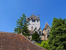 Castle of Oberhofen. Oberhofen castle at the lake Thun, Switzerland Stock Images