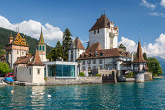 Castle of Oberhofen am Thunersee Stock Image