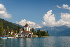 Castle of Oberhofen am Thunersee stock photos
