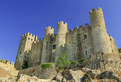 The castle in Obidos, Portugal Royalty Free Stock Photos