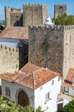 Castle of Obidos. View of castle in the medieval town of Obidos in Portugal Royalty Free Stock Photos
