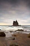 The castle in the ocean stock photos