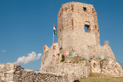 Castle Of Csesznek Stock Photos