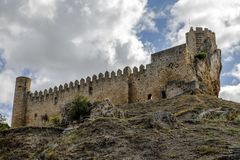 Castle Of The City Of Frias Burgos, Spain Royalty Free Stock Images
