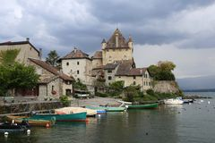 Free Castle Of Yvoire At Lac Leman Stock Photos - 131481803