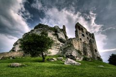 Castle in Ogrodzieniec royalty free stock images
