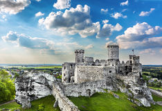 Castle, Ogrodzieniec fortifications, Poland. Royalty Free Stock Photos