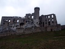 Castle Ogrodzieniec 2. One of the largest medieval castles built by the Polish king Casimir the Jura Cracow. Fortress defended the Polish borders to the south Stock Photos