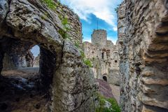 Castle in Ogrodzieniec Poland Royalty Free Stock Images