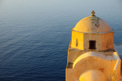 The castle in Oia at sunrise Stock Photos