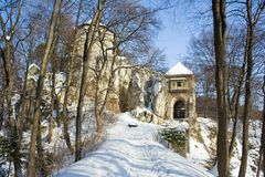 Castle in Ojcow National Park Royalty Free Stock Photography