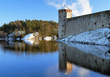 Castle Olavinlinna in Savonlinna, Finland Stock Photo