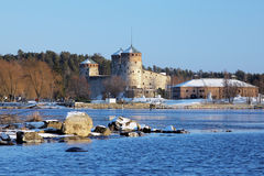 Castle Olavinlinna in Savonlinna, Finland Stock Images