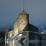 Castle Olavinlinna in Savonlinna, Finland Royalty Free Stock Photography