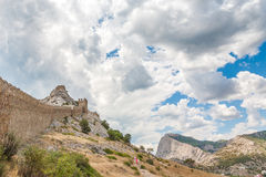 The castle. The old castle in Crimea, Ukraine Royalty Free Stock Images