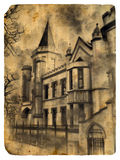 Castle. Old postcard. Stock Photo