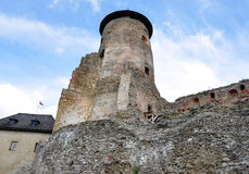 Castle and the old tower of the Old Lubovna, Slovakia, Europe Stock Photos