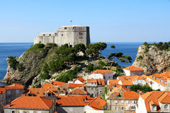 Castle and old town Dubrovnik Royalty Free Stock Photography
