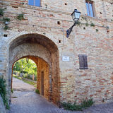 Castle of the old town of Grottamare, Ascoli Piceno Stock Photo