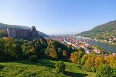 Castle and the Old Town in Heidelberg, Germany Royalty Free Stock Photos