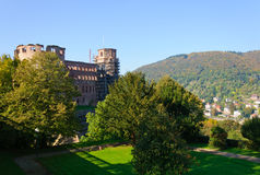 Castle and the Old Town in Heidelberg, Germany Royalty Free Stock Image