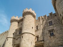 Castle of old town Rhodes in Greece Stock Image