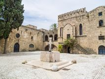 Castle of old town Rhodes in Greece Royalty Free Stock Image