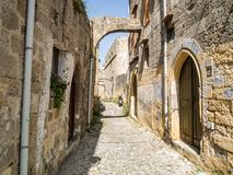 Castle of old town Rhodes in Greece Royalty Free Stock Photo
