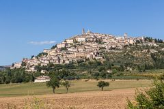Castle of old town in Umbria, Italy Stock Photos