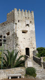 Castle in the old village of Roquebrune-Cap-Martin Royalty Free Stock Photos