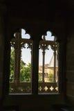 Castle of Olite windows Stock Photos
