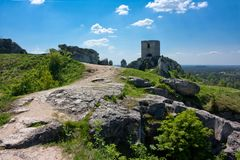 Castle Olsztyn Royalty Free Stock Photos