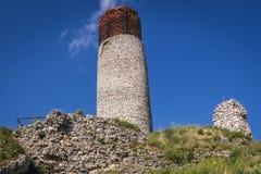 Castle in Olsztyn, Silesia region. Olsztyn Castle ruins on the Trail of Eagles Nests in small village Olsztyn, Silesia region in Poland royalty free stock images