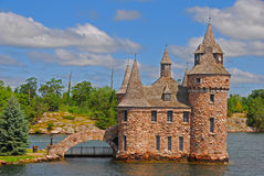 Castle in One Thousand Islands. A Small Castle in One Thousand Islands Stock Photos