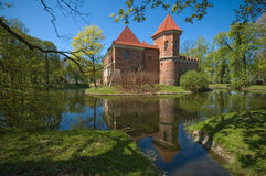 The castle in Oporow, Poland royalty free stock photos