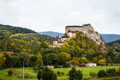Castle in Orava, Slovakia. Image of a Castle in Orava, Slovakia royalty free stock photography