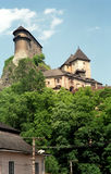 Castle, Orava, Slovakia. Medieval castle in Orava, Slovakia stock photos