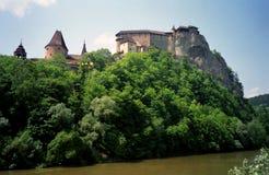 Castle, Orava, Slovakia. Medieval castle in Orava, Slovakia royalty free stock photography